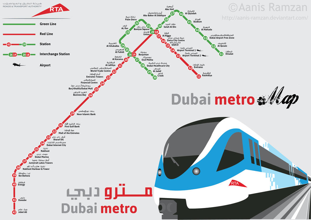 Dubai Metro Station map by aanis-ramzan on DeviantArt