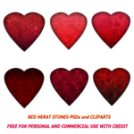 Red Heart Stone PSDs