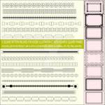 15 Square Pattern Brushes Set