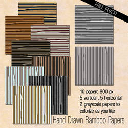 Hand Drawn Bamboo Papers
