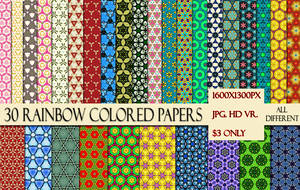 Rainbow Color Papers