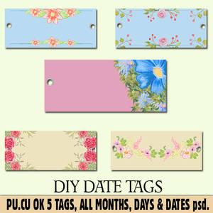 DIY DATE TAGS