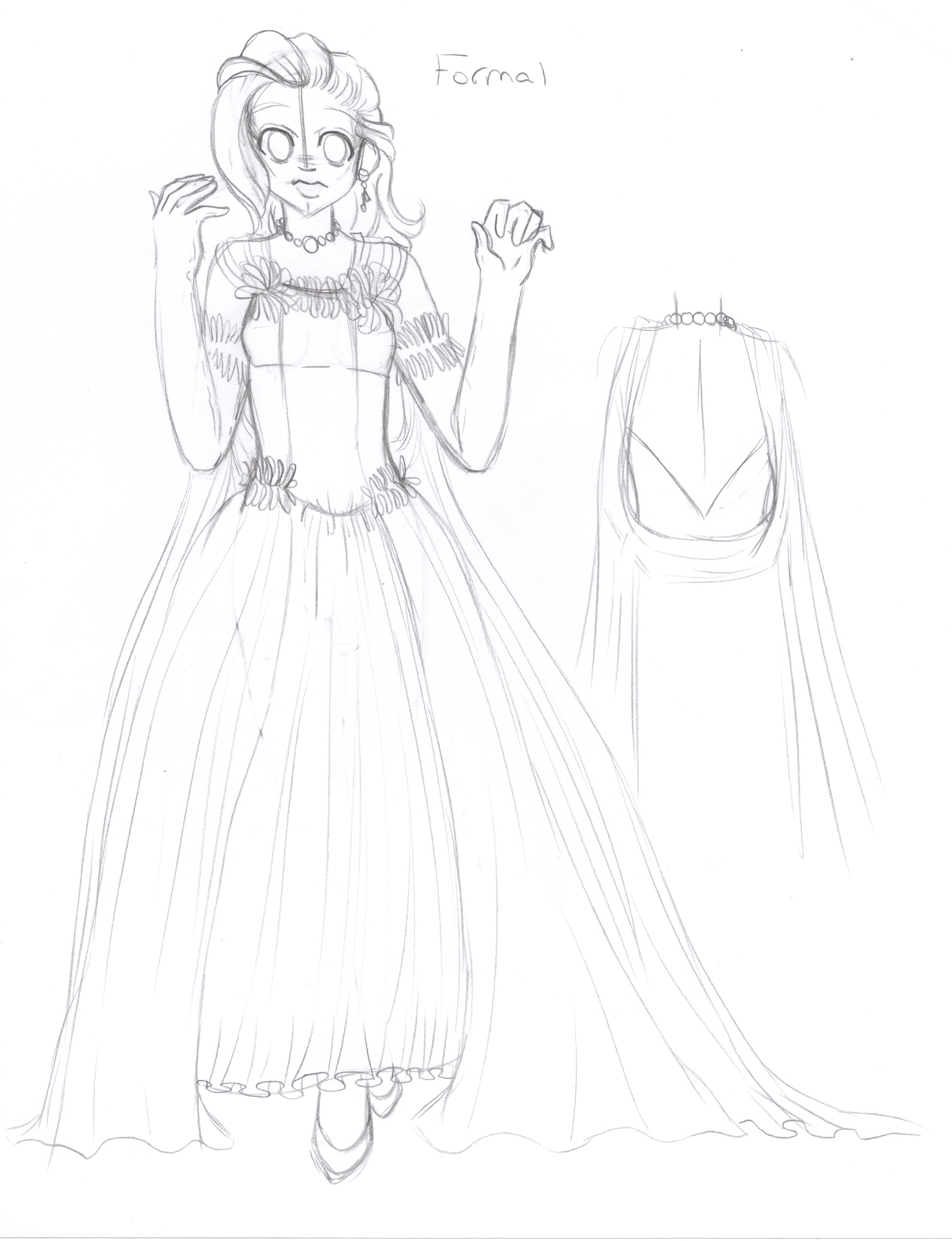 CGS - Formal Dress Sketch By Wildnature03 On DeviantArt