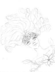 Flower Crown Sketch