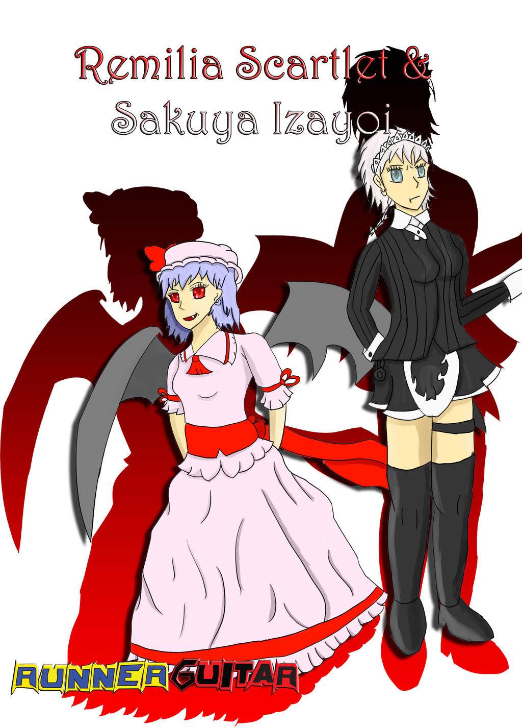 Remila and Sakuya (Art Trade) Family of Devils! by RunnerGuitar