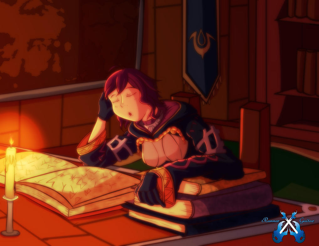 Working Hard (Fire Emblem Awakening Fan Art) by RunnerGuitar