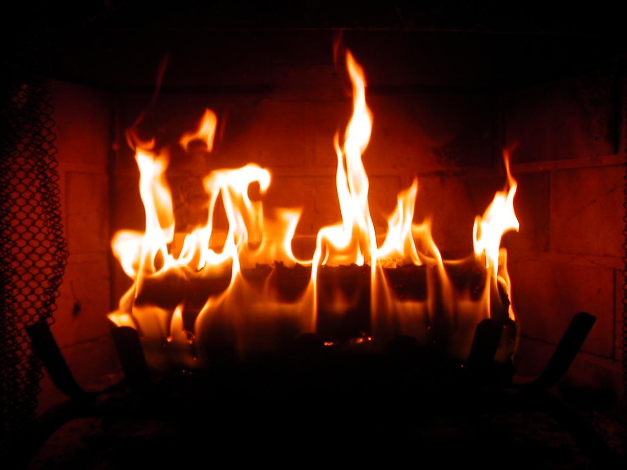 A Fire Inside The Chimney By A Ki Chi On Deviantart