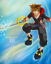 KH III - Sora The Keyblade's Chosen One by createandshow0407