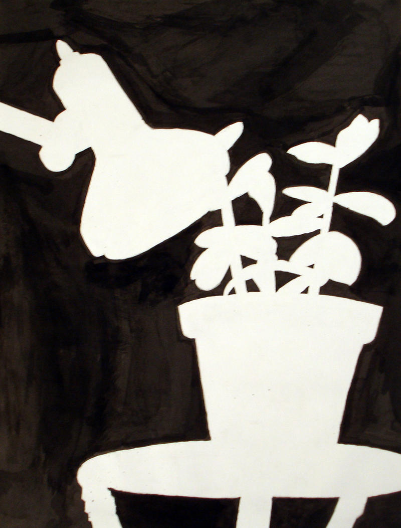space study by fennecuskitsune traditional art drawings still life    Negative Space Drawing Still Life