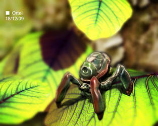 Insect On Leaves by Orteil