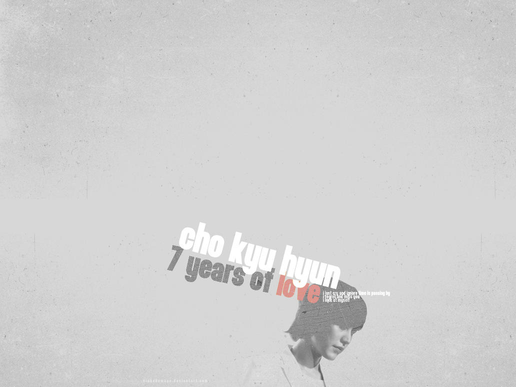 wallpaper kyuhyun 7years ver 1 by viahebumuno
