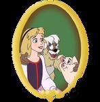 Disney Pets - 19 Eilonwy by CheshireScalliArt