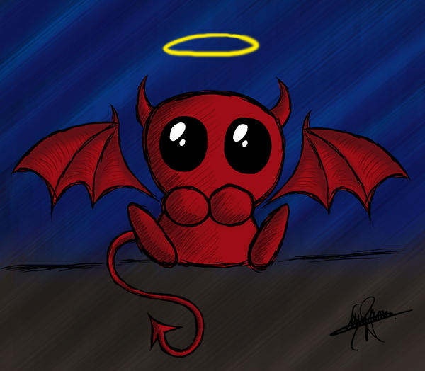 Pictures Of Cute Baby Devil Drawing Kidskunst Info