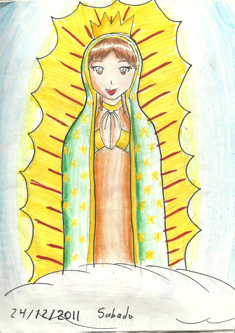 la virgen de guadalupe by silverjaqui on DeviantArt