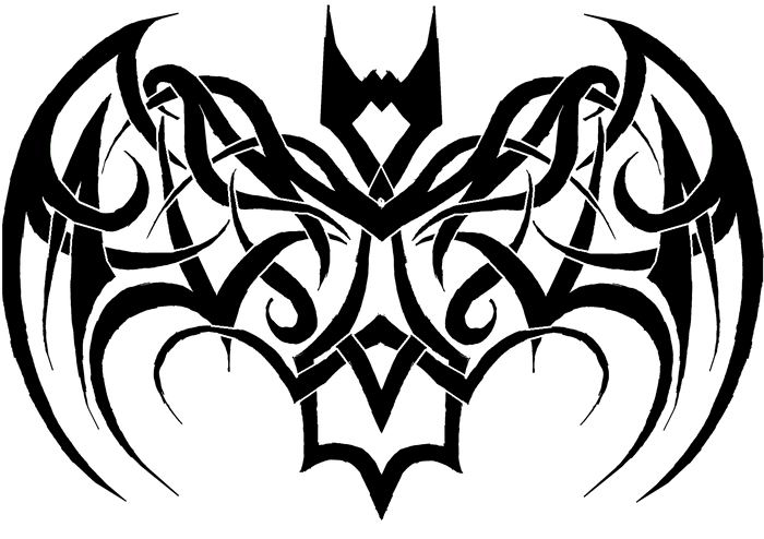 tribal bat tattoo by kearnold on deviantart rh deviantart com Bat Tattoo Flash Bat Tattoo Flash