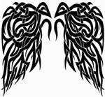 Tribal Wings tat