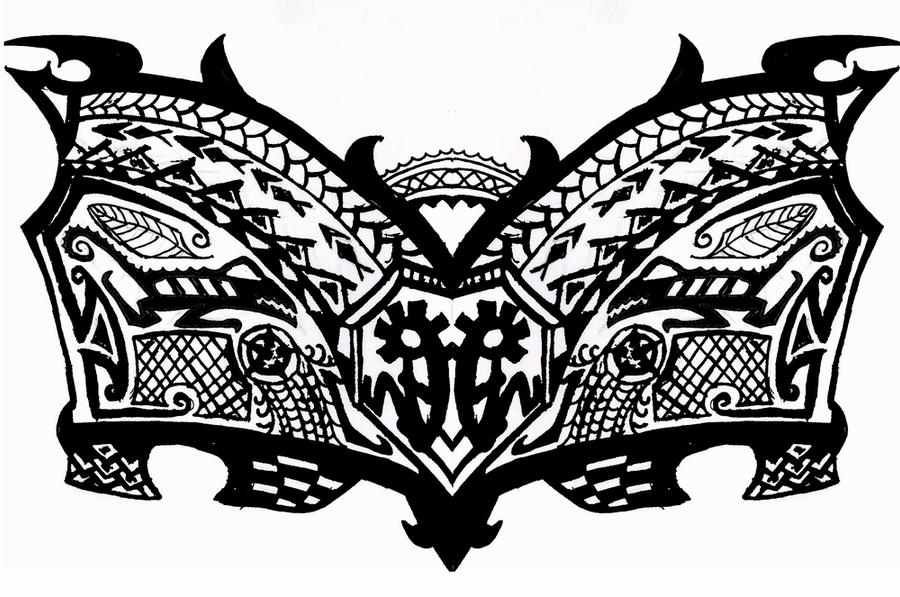 Tribal chest tattoo by kearnold on deviantart