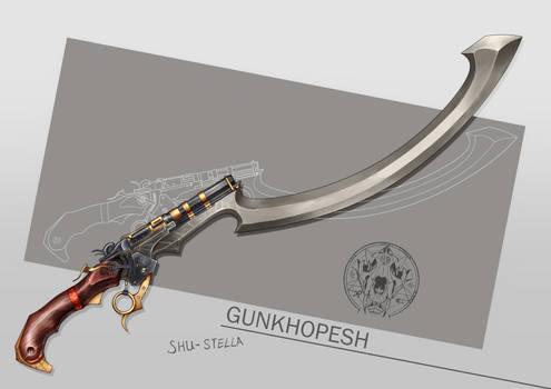 'Gunkhopesh' Egyptian style Gunblade