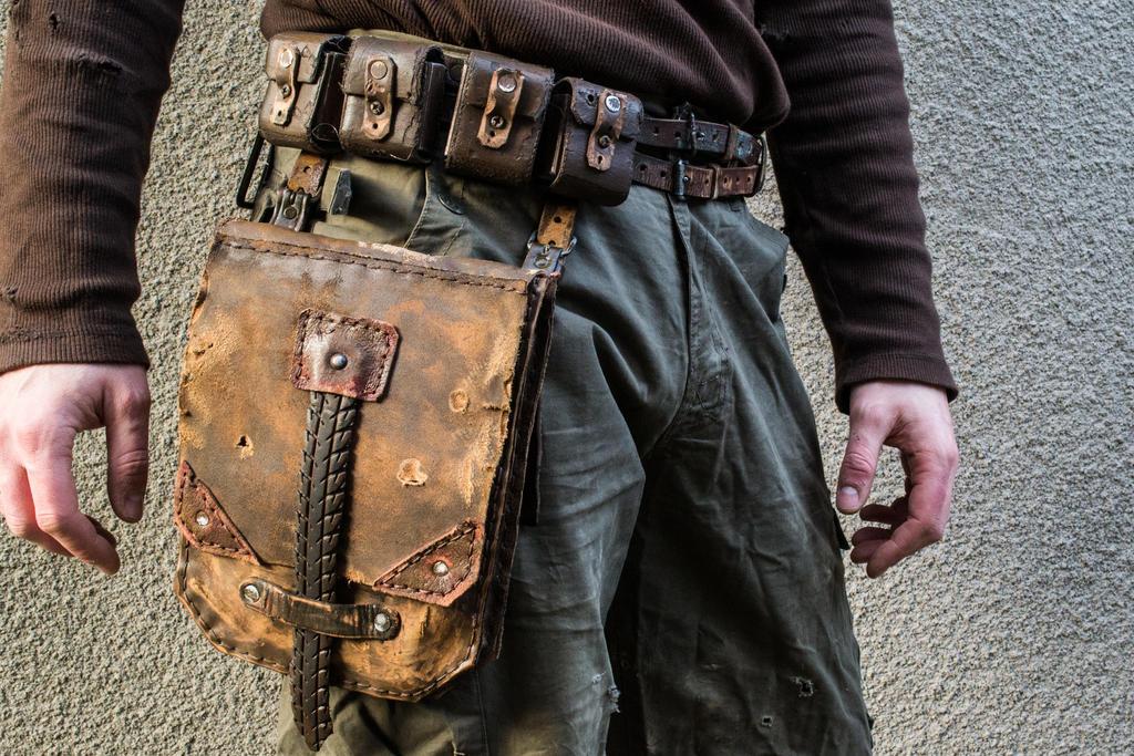 postapo belt with leather bag by tharrk on deviantart