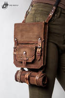 Shoulder bag with tool roll by Tharrk