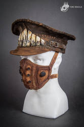 Dystopian Handcrafted Leather Cap