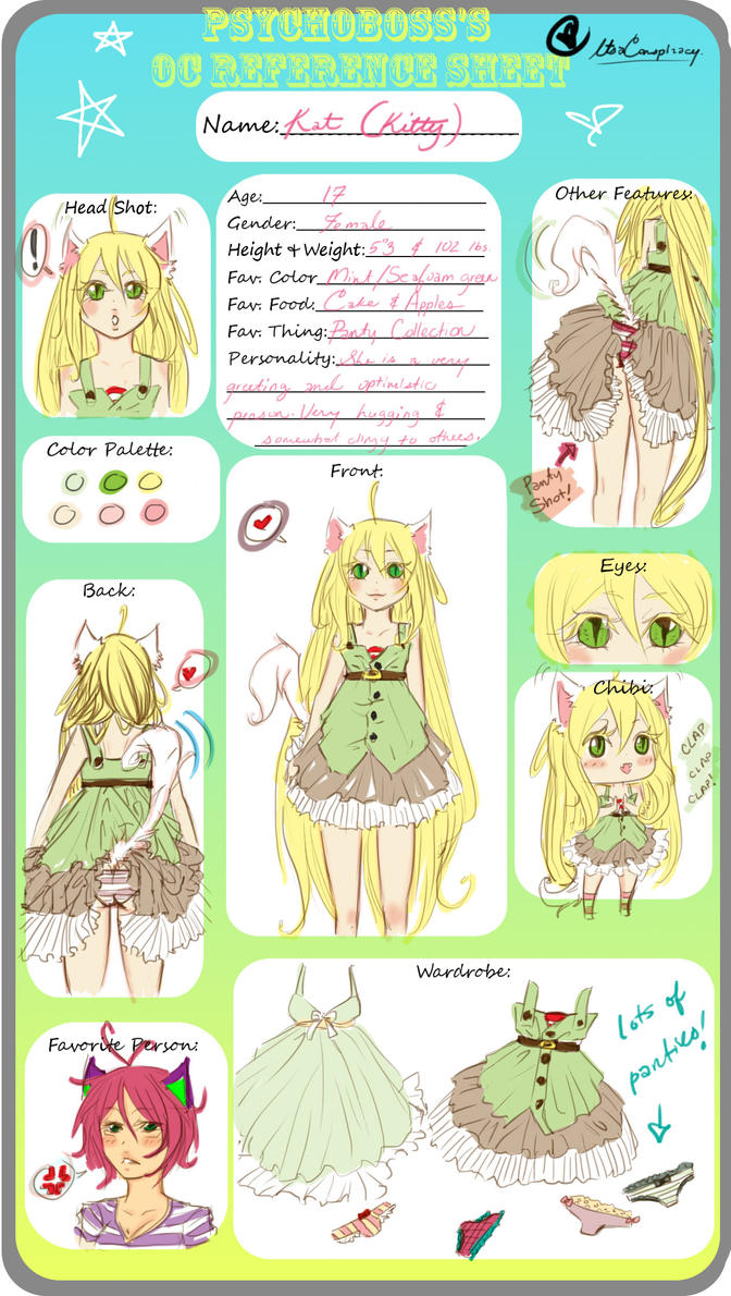 oc reference sheet kat by connieconnconn on deviantart