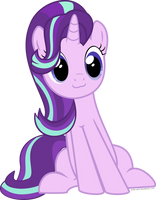 Starlight Glimmer cat face vector by arifproject