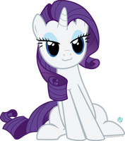 Rarity cat face vector by arifproject