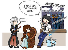 The Infernal Devices - Violin and cats by Felwyn