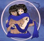 TMI - Malec - Magnus and Alec Blue Scarf
