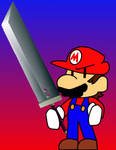 Mario with a Buster Sword
