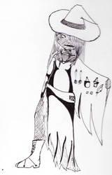 Inktober2 : urban witch by Aliazanetsu
