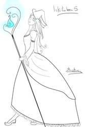 Inktober5 : Socialite Witch by Aliazanetsu