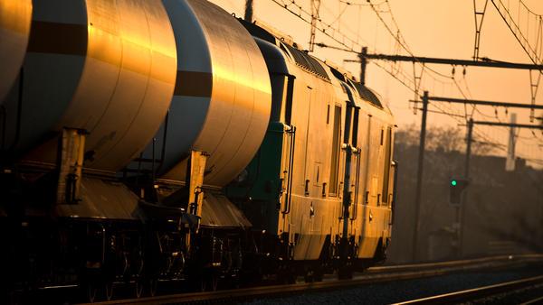 Cargo train in the sun by SIMPYbe