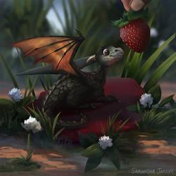 Strawberries for Breakfast by samanthajoanneart