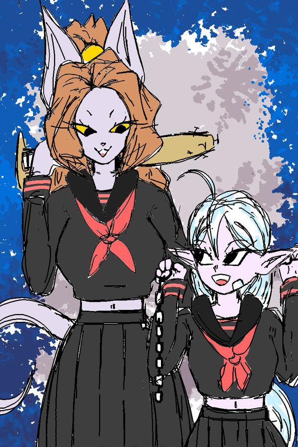 Supreme Kai Shin Female And Beerus