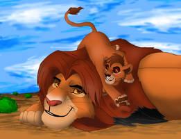 Simba and Alafin by Taniadragon