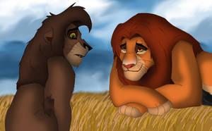 Simba's death by Taniadragon