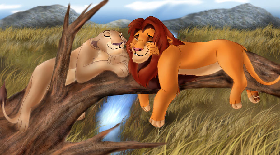 Nala and Simba - Love Tonight by Taniadragon
