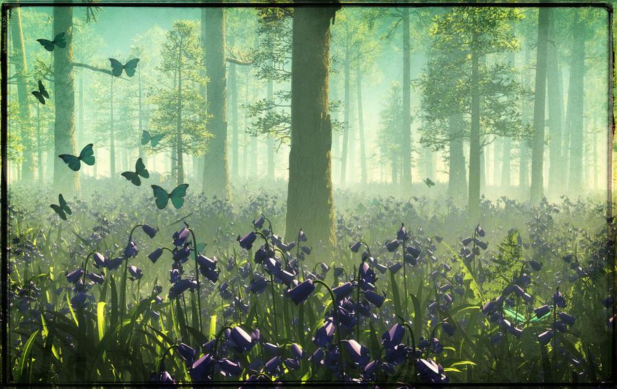 Bluebell Woods ii by struckdumb