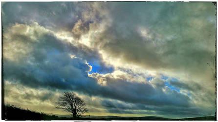 Sky Over Bodmin Moor by struckdumb