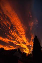Fire sky by Eldharjar