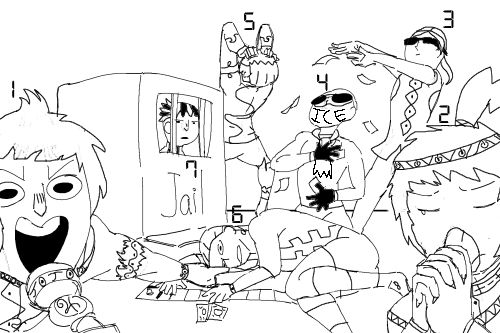 The part 9 gang plays monopoly