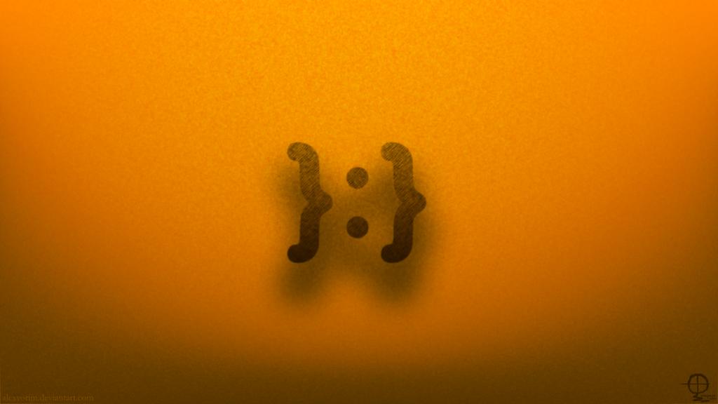 Me Gusta Emoticon Wallpaper Redux - Orange