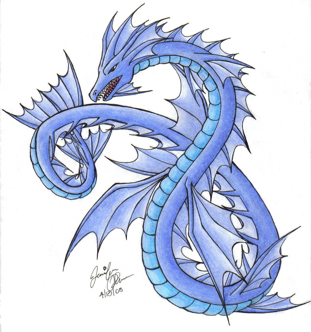 Water Dragon by SkyEmerald on DeviantArt