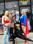 Wonder Girl Catwoman Supergirl