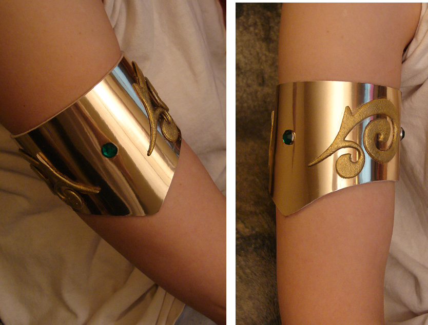 Red Sonja arm cuff by AlisaKiss