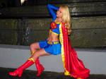 Supergirl sitting
