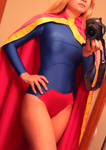 DC 52 Supergirl progress shot