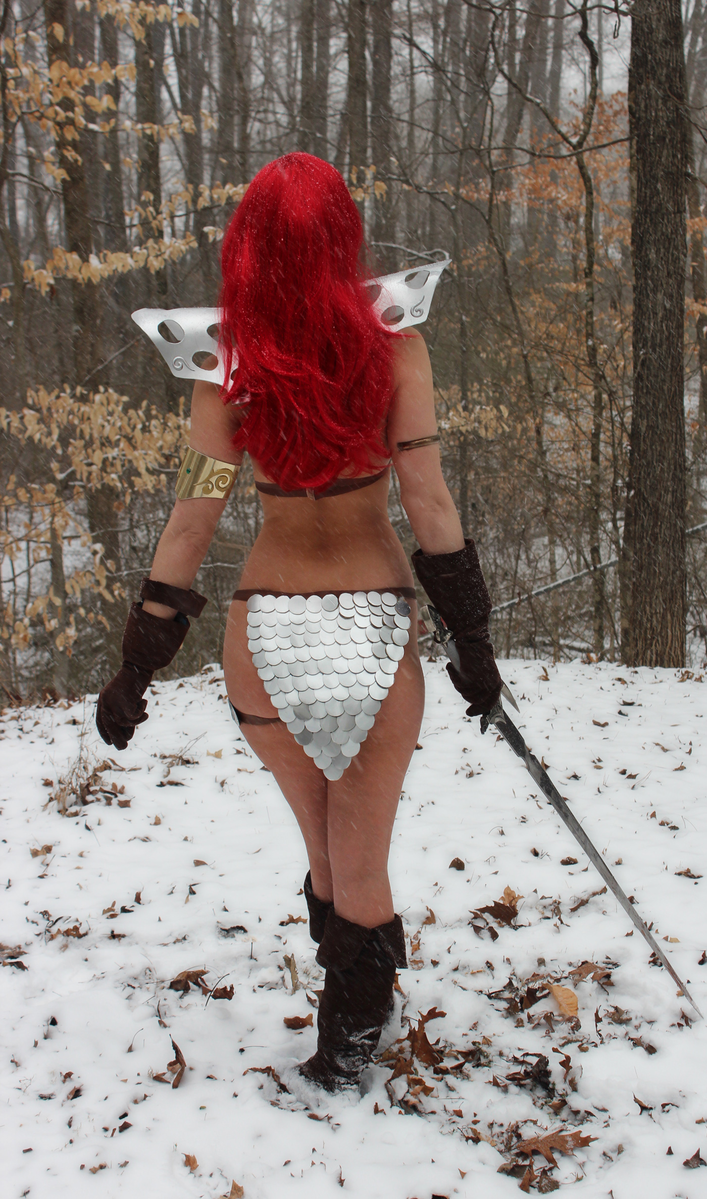 Red Sonja in the snow 2 by AlisaKiss